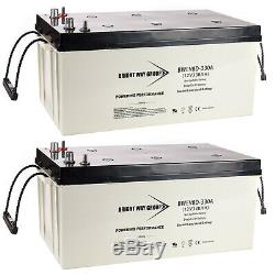 2x 12V 330Ah 8D Sealed AGM Battery for Solar Power, APS Systems, UPS Systems