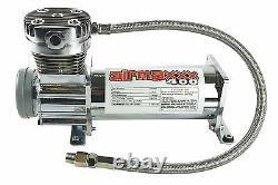 Air Compressor Chrome AirMaxxx 400 For Air Bag Suspension System 120 On 150 Off