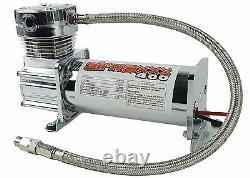 Air Compressor Chrome AirMaxxx 400 For Air Bag Suspension System 90 On 120 Off