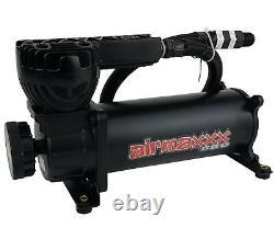 Air Ride Suspension Air Compressor 580 Black 180 psi Off Pressure Switch & Relay
