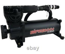 Air Ride Suspension Air Compressor 580 Black 200 psi Off Pressure Switch & Relay