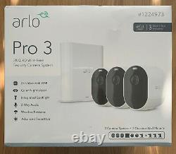 Arlo Pro 3 Wire-Free 3-pack 2K HDR Camera Security System Brand New Sealed