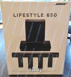 Bose Lifestyle 650 Home Theater System (BLACK). Brand NEW, SEALED