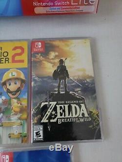 Brand New Nintendo Switch Lite Zacian and Zamazenta Edition Bundle Games Sealed