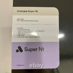 Brand New Sealed Analogue Super Nt Black Edition IN HAND (No Controller)
