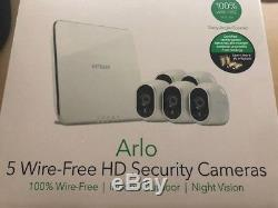 Brand New Sealed NETGEAR Arlo Smart Home Security 5 HD Camera System Wire-Free