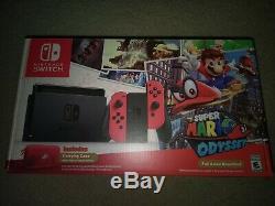 Brand New Sealed Nintendo Switch Mario Odyssey Bundle Limited Edition US Version
