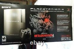 Factory Sealed Sony PS3 Metal Gear Solid Limited Edition Gun-Metal Grey Console