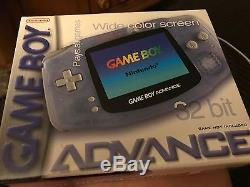 Game Boy Advanced wide screen Glaicer factory sealed 32 bit