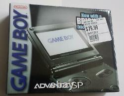 Gameboy Advance SP Graphite NEW IN BOX Nintendo GBA Factory Sealed Game Boy