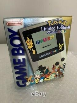 Gameboy Color Pokemon Silver/Gold Limited Edition Factory Sealed NEW