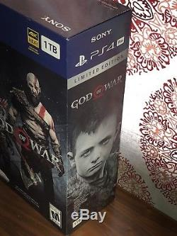 God Of War Playstation 4 Limited Edition Console PS4 Bundle Rare NEW SEALED NIB