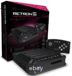 Hyperkin RetroN 5 Retro Video Gaming System Console BLACK Brand New Sealed