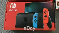 IN-HAND SEALED Nintendo Switch Neon Red & Neon Blue Joy-Con Console V2