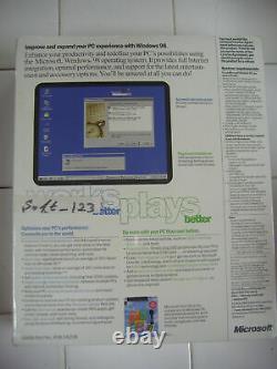 Microsoft Windows 98 Secon Edition Full Operating System Win 98 Se =sealed Box=