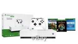 Microsoft Xbox One S All-Digital Edition 1TB Console Bundle White NEW & SEALED