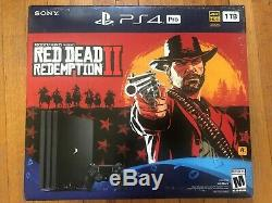 NEW! FACTORY SEALED! Sony PlayStation 4 Pro Console with Red Dead Redemption 2