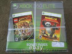NEW Microsoft Xbox 360 Elite 120gb Console System Black Factory Sealed Unopened