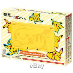 NEW Nintendo 3DS XL Pikachu Yellow Edition Game System Console BRAND NEW SEALED