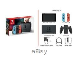 NEW & SEALED Nintendo Switch 32GB Console with Neon Blue and Neon Red Joy-Con