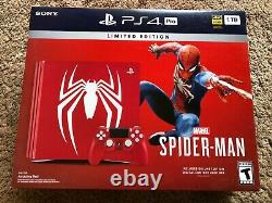 NEW SEALED PLAYSTATION PS4 Pro 1 TB SPIDERMAN Limited Edition Console