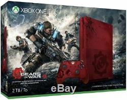 NEW, SEALED Xbox One S Gears of War 4 Limited Edition Bundle 2TB Red Console