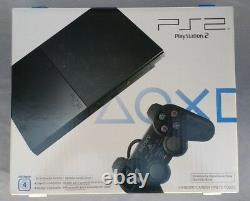 NEW Sony PS2 Playstation 2 Slim Black SCPH-90001 NTSC-UC Sealed Read Free Shipp