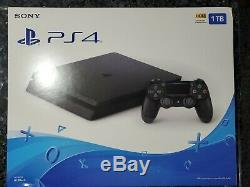 NEW Sony PlayStation PS4 1TB Slim Gaming Console Black Factory Sealed