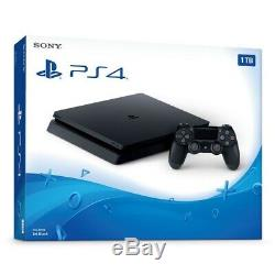 NEWithSEALED Sony PlayStation 4 1TB Console Jet Black PS4