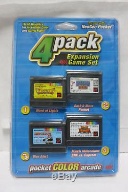 NeoGeo Pocket Color SYSTEM + 10 GAMES Brand New Factory Sealed