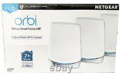 Netgear Orbi WiFi 6 System AX4200 RBK753 RBK753S-100NAS Tri-Band New Sealed