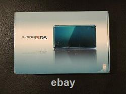 New Nintendo 3DS Blue Launch Edition Handheld System Aqua Blue NEW SEALED