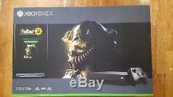 New Sealed Microsoft Xbox One X 1TB Fallout 76 Console Bundle Black