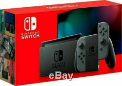 New Sealed Nintendo Switch 32GB V2 Console with Gray Joy-Con In Hand