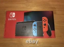 New Sealed Nintendo Switch Console 32gb Neon Red & Blue Joy-con Newest Model
