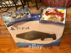 New Sony PlayStation 4 Slim 1TB Jet Black Console with 4 sealed new games