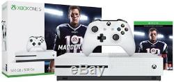 New Xbox One S 500GB Console Madden NFL 18 Bundle with 4K Tom Brady Cover Sealed