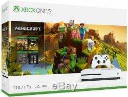 New and sealed Microsoft Xbox One S 1TB Minecraft bundle White