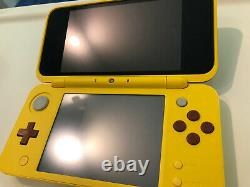 Nintendo 2DS XL Pikachu Edition Console With Charger And Sealed AR Cards