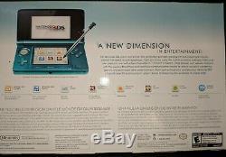 Nintendo 3DS Aqua Blue ORIGINAL Handheld System Console BRAND NEW SEALED