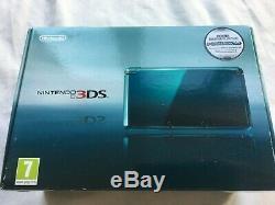 Nintendo 3DS Console Aqua Blue (open box) UK Release Contents Factory Sealed