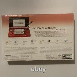 Nintendo 3DS Handheld System Flame Red New Sealed 1st Gen Launch Editon