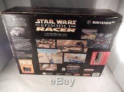 Nintendo 64 N64 Console Star Wars Episode 1 Racer Bundle (NEW, SEALED!) #S852