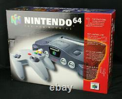 Nintendo 64 N64 Launch Edition Charcoal Gray Console Brand New Sealed in Box