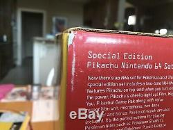 Nintendo 64 Pikachu Console ACTUALLY SEALED, NEVER OPENED EVER