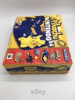 Nintendo 64 Pikachu Pokemon Blue Yellow Console Limited Edition New SEALED Rare
