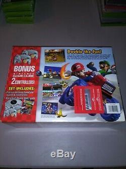 Nintendo GameCube Mario Kart Double Dash Bundle Platinum Console still sealed