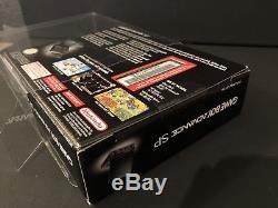 Nintendo Game Boy Advance SP (Onyx/Black) SEALED MINT + PROTECTOR