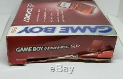Nintendo Game Boy Advance Sp Red Flame Brand New Sealed Outer Box Damage Rare