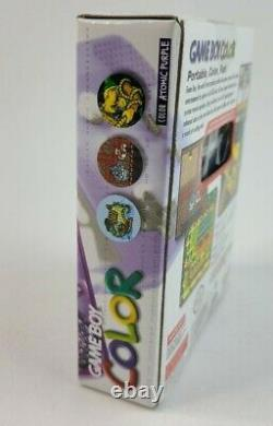 Nintendo Game Boy Color Atomic Purple NEW Factory Sealed Box Near Mint